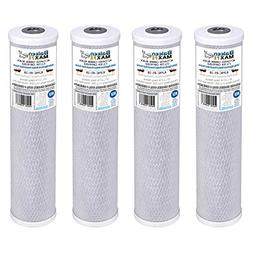"""4-Pack of Baleen Filters 10"""" x 2.5"""" 0.5 Micron Coconut Shell"""