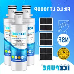 3 Pack Compatible With LG LT1000P LT120F 469918 Icepure Wate