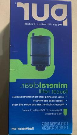 1 PUR WATER FAUCET REPLACEMENT FILTER RF-9999 NEW.