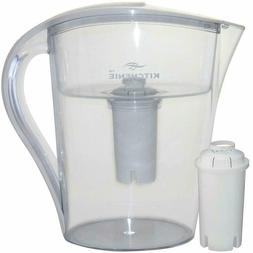 10 Cup Long-Lasting Water Filter Pitcher with 2 2.5 L Filter