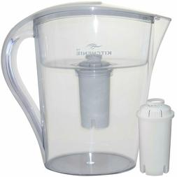 10 Cup Water Filter Pitcher, includes 1 Filter, Drink Health