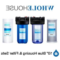 Geekpure 10-Inch Big Blue Water Filter Whole Housing with Re
