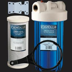 10 inch Big Blue Whole House Water Filter Purifier w/ CTO Ca