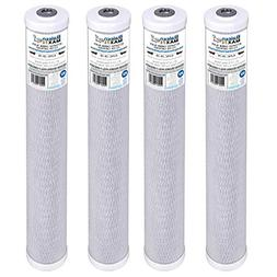 """4-Pack of Baleen Filters 20"""" x 2.5"""" 10 Micron Coconut Shell"""