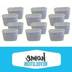 12 Home Revolution Replacement Charcoal Water Filters, Fits