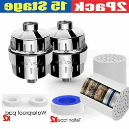 15 Stage Shower Head Filter & Cartridge for Hard Water Softe