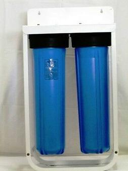 """2-20"""" BIG BLUE HOUSING WITH STAND BRACKET FOR 4,5"""" X 20"""" FIL"""