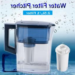 2.5L Water Filter Pitcher Activate Carbon Filter Replaced Du