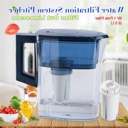2.5L WATER FILTER PITCHER W/ 1 5-STAGE FILTER WATER PURIFIER