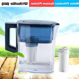 2.5L WATER FILTER PITCHER W/ 1 FILTER WATER PURIFIER HOME KI