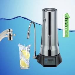 ECO CARB COUNTER TOP FLUORIDE WATER FILTERS CHROME +  REPLA