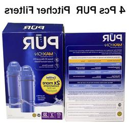4 Packs PUR Basic Water Filters CRF-950Z Replacement Pitcher