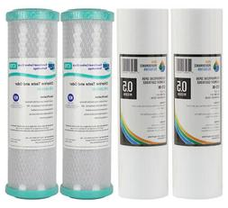 2 Set Replacement Undersink Water Filter Cartridges Coconut