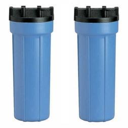 "Universal 10"" Water Filter Housing Pentek Ametek 2 Two Pack"