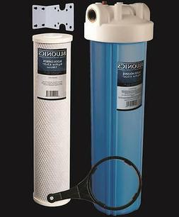 20 inch Big Blue Whole House Water Filter Purifier w/ CTO Ca