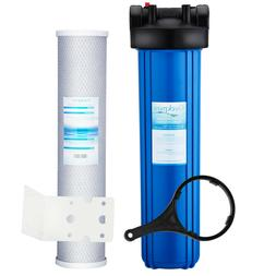 20-Inch Big Blue Whole House Water Filter Housing & Carbon B
