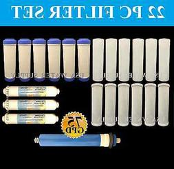 22 PCS-WATER FILTERS SEDIMENT CARBON REVERSE OSMOSIS DRINKIN