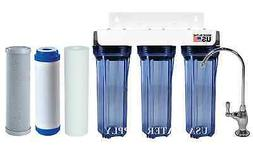 3 STAGE UNDER SINK DRINKING WATER FILTER SYSTEM 2 CARBON 1 S