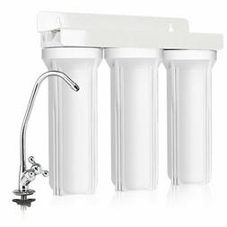 3-Stage Under-Sink Water Filter System Water Filtration with