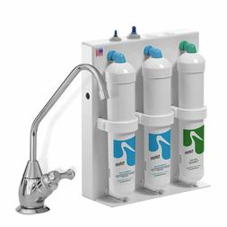 3 Stage Undercounter Drinking Water Filter with Chrome Dispe