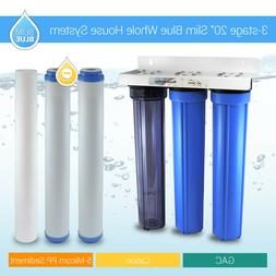 """3 Stage 20"""" Whole House Water Filter Softening Softener Syst"""