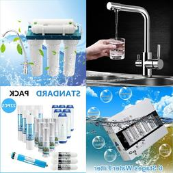 3 Way Dual Handle Kitchen Sink Faucet with 6 Stage UF Water