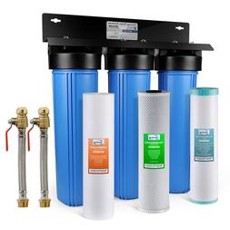 iSpring 3-Stage Big Blue Whole House Water System LEAD,Iron,