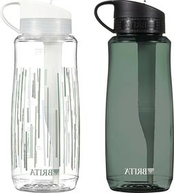 Brita 34 Ounce Hard Sided Water Filter Bottles with 1 Filter