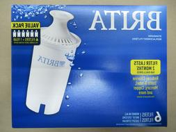 BRITA 36417 STANDARD REPLACEMENT WATER PITCHER FILTERS 6 FIL