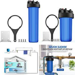 """4.5""""X10""""/20"""" Big Blue Whole House Water Filter Housing 1"""" In"""