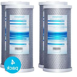 "4 Packs Big Blue Carbon Block Replacement Water Filter 4.5"""
