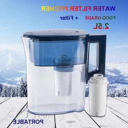 4 Stage Water Filter Pitcher Mini Purifier Portable BPA Free