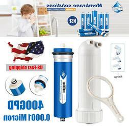 400GPD RO Reverse Osmosis Membrane Water Filter + Housing Re