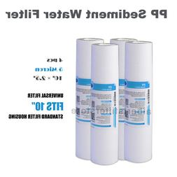 """4pack Sediment Water Filter 5 Micron 10"""" x 2.5"""" Fit GE,Kenmo"""