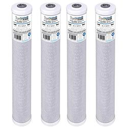 """4-Pack of Baleen Filters 20"""" x 2.5"""" 5 Micron Coconut Shell P"""