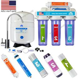 5 Stage Home Drinking Reverse Osmosis RO Water System Clear
