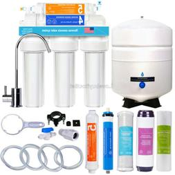 5 Stage Home Drinking Reverse Osmosis System RO Water Filter