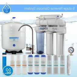 5 Stage Home Reverse Osmosis System Extra 7Filters 100 GPD M
