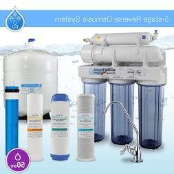 5 Stage Kitchen Home Drinking Reverse Osmosis System RO MAX