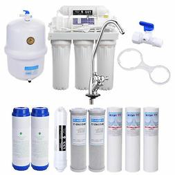 5 Stage Reverse Osmosis Drinking Water Filter RO System Home
