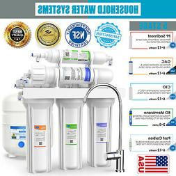 5 Stage Under Sink Reverse Osmosis Drinking Water Filter Sys