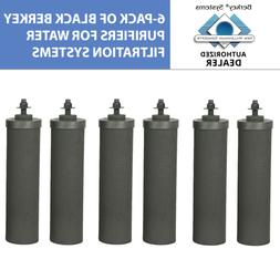6 black replacement water filters travel big