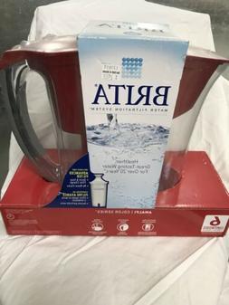 Brita 6 cup pitcher, Amalfi, Red