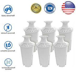 6 pack water pitcher filters fit