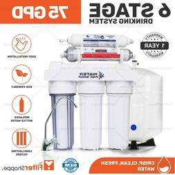 6 Stage Drinking Water Reverse Osmosis Filter System w/ pH A