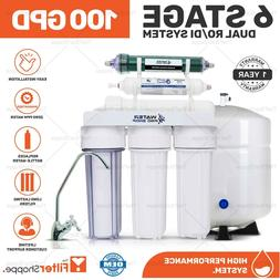 6 Stage Dual Home Drinking + RO/DI Reverse Osmosis Water Sys