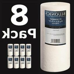 """8-PK Big Blue 10 x 4.5""""  Sediment Whole House Water Filters"""