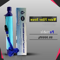 99.99% Water Filter Purification Emergency Gear Straw Campin