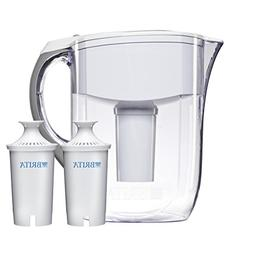 Brita 10 Cup White Grand Water Filter Pitcher with 2ct Filte
