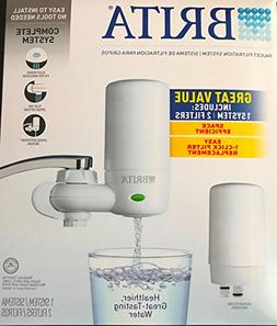 Brita On Tap Faucet Water Filter System, Includes:1 System+2